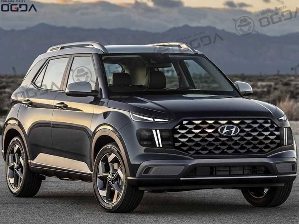 Facelift para o Hyundai Venue imaginado na Índia