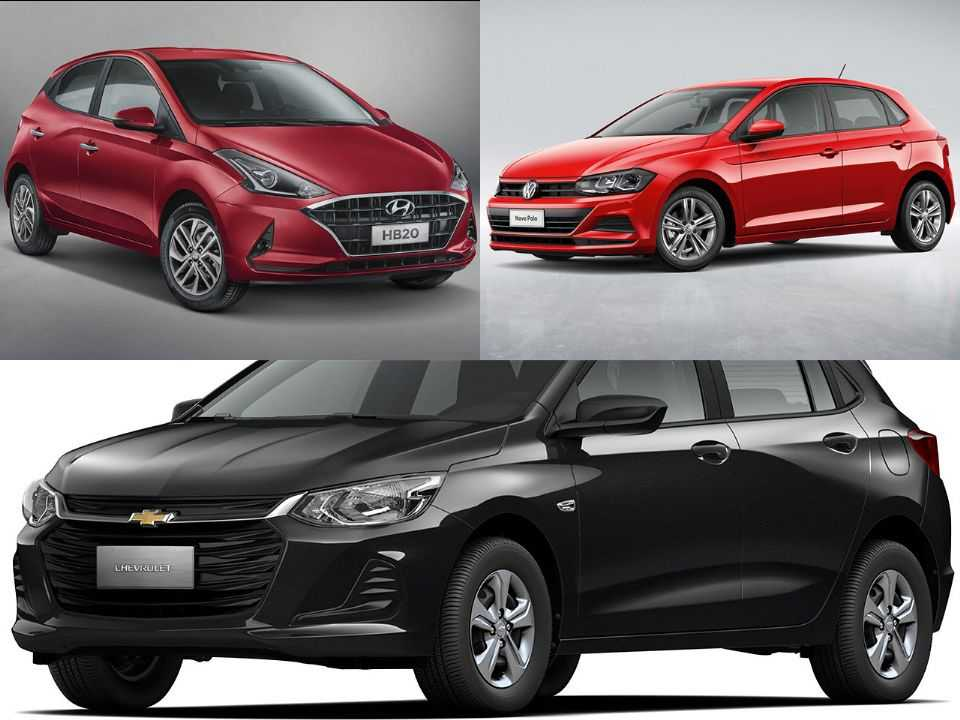 Hyundai HB20, Volkswagen Polo e Chevrolet Onix