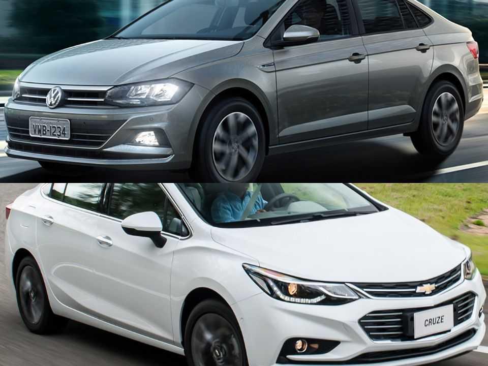 Volkswagen Virtus e Chevrolet Cruze