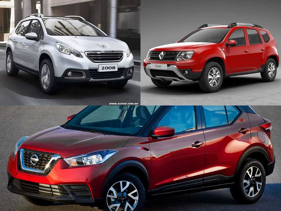 Peugeot 2008, Renault Duster e Nissan Kicks