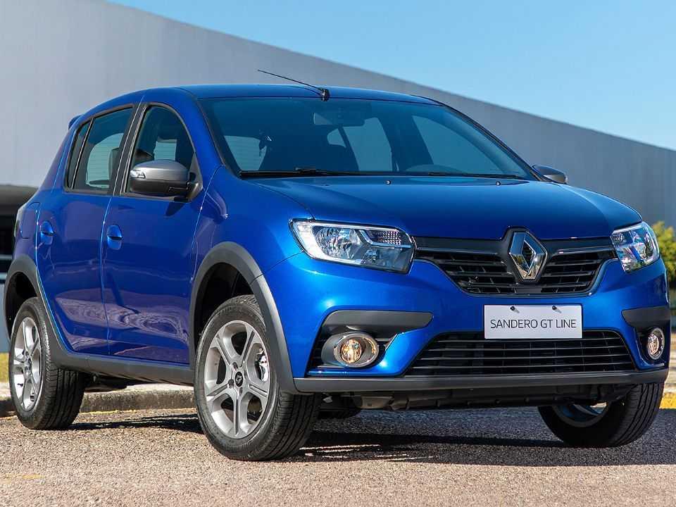 RenaultSandero 2021 - ângulo frontal