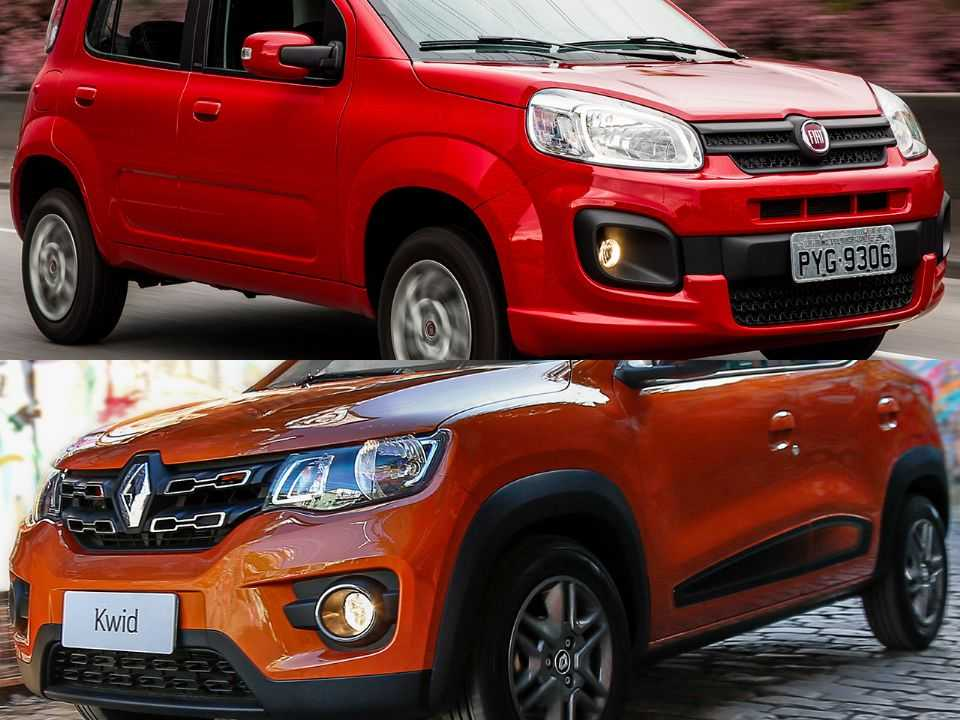 Fiat Uno e Renault Kwid