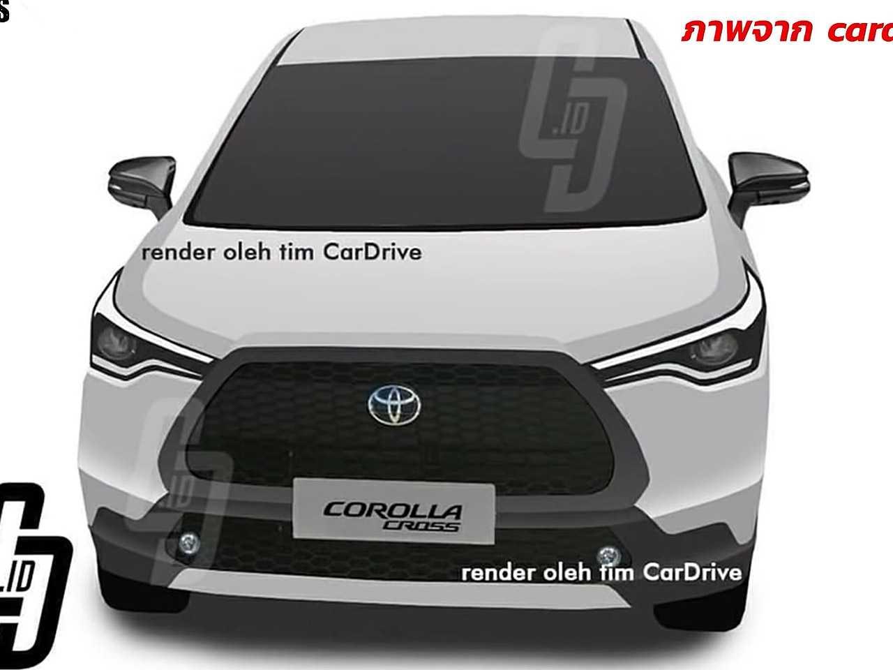 Projeção do futuro SUV derivado do Corolla baseado em flagras da novidade