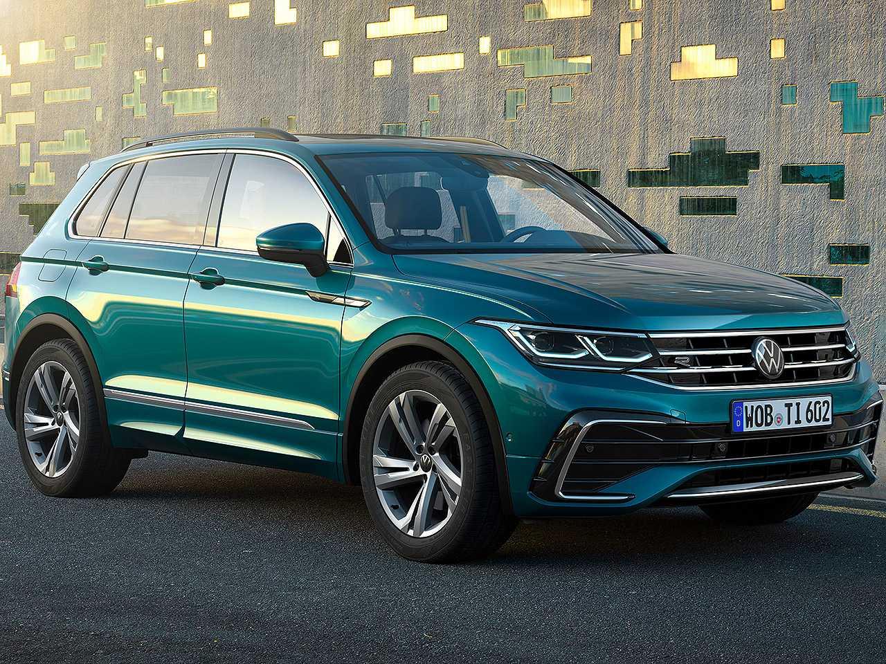 Acima o novo Volkswagen Tiguan R voltado ao mercado europeu