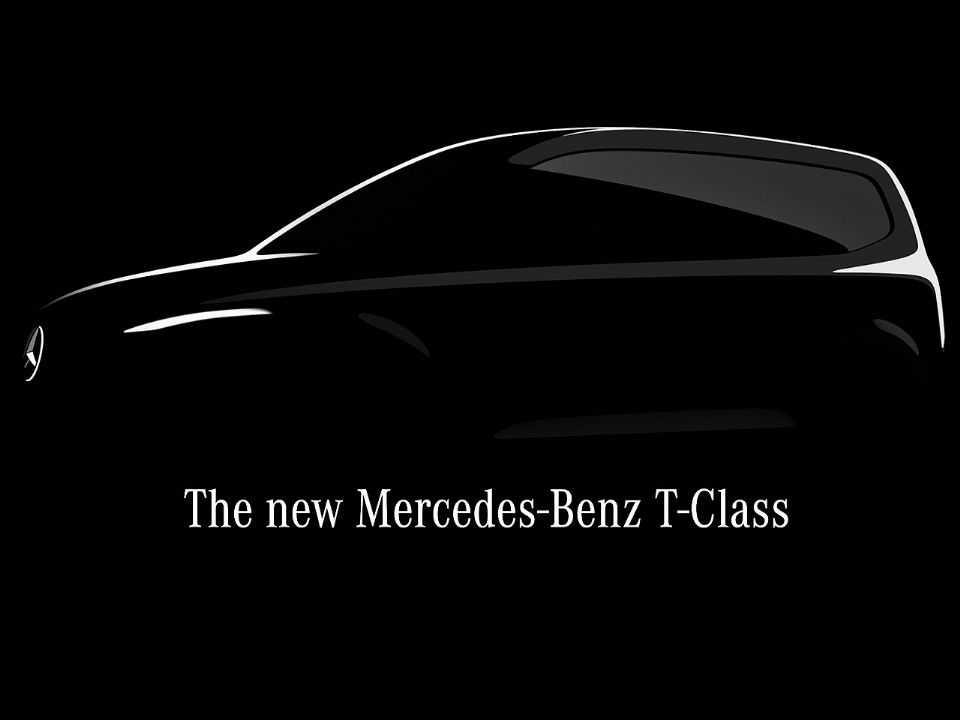 Teaser da Mercedes-Benz confirmando a inédita Classe T