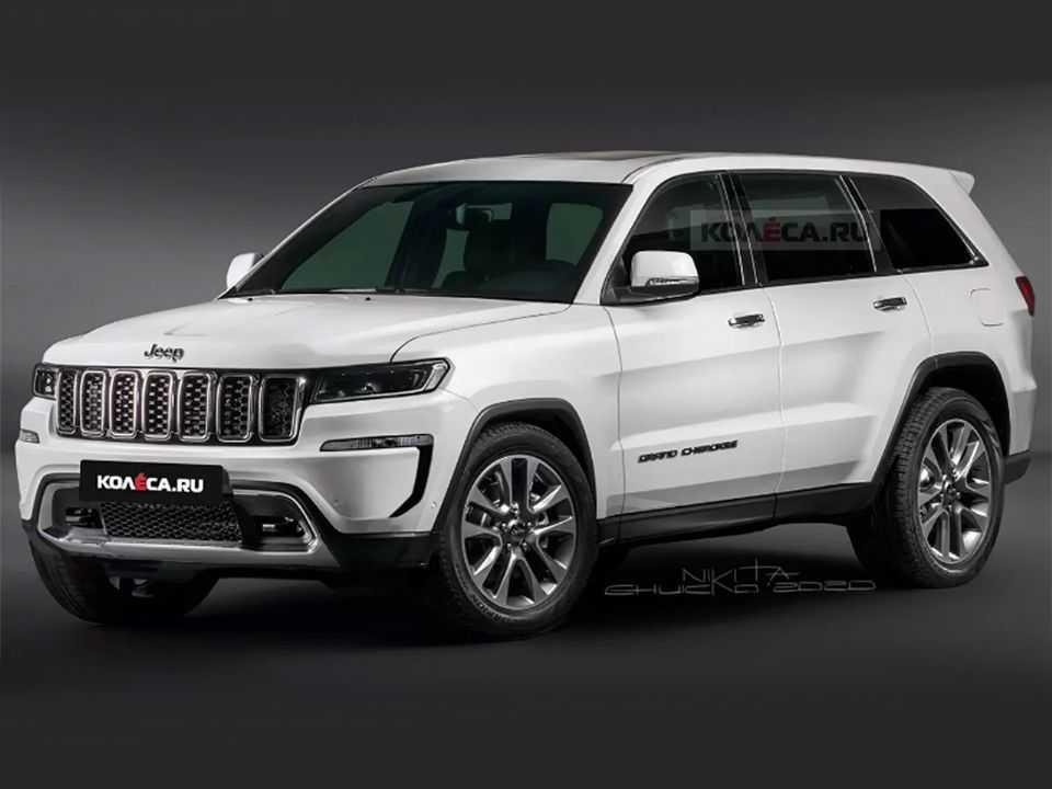 Projeção do site russo Kolesa para a nova geração do Jeep Grand Cherokee