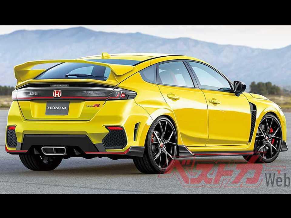 Projeção do site japonês Best Car Web para a nova geração do Honda Civic em sua versão esportiva Type R