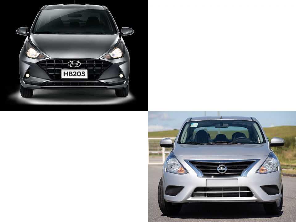 Nissan Versa/V-Drive e Hyundai HB20S
