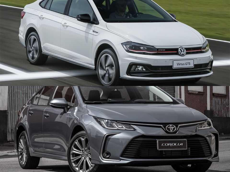 Volkswagen Virtus e Toyota Corolla