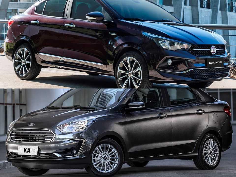 Fiat Cronos e Ford Ka Sedan