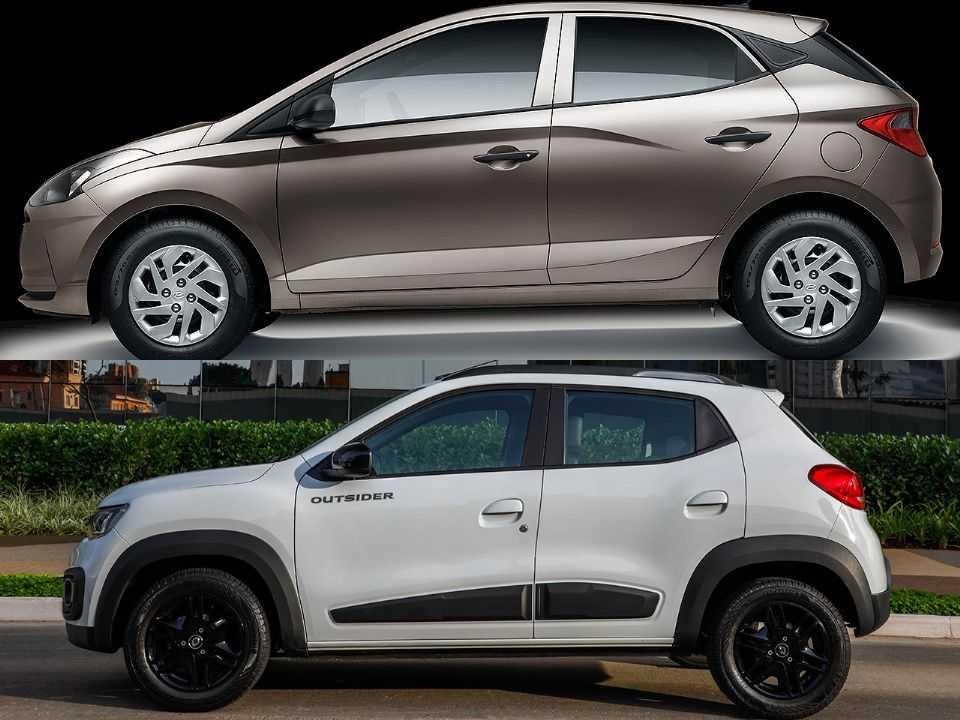 Hyundai HB20 e Renault Kwid