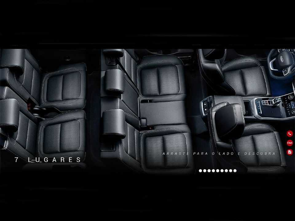 Interior do Tiggo 8 promete bom nível de espaço interno e poderá transportar até 7 pessoas