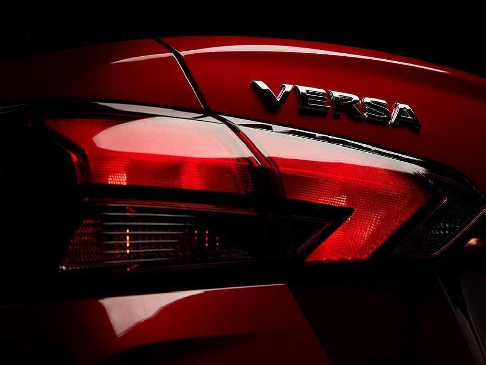 Detalhe da nova geração do Nissan Versa