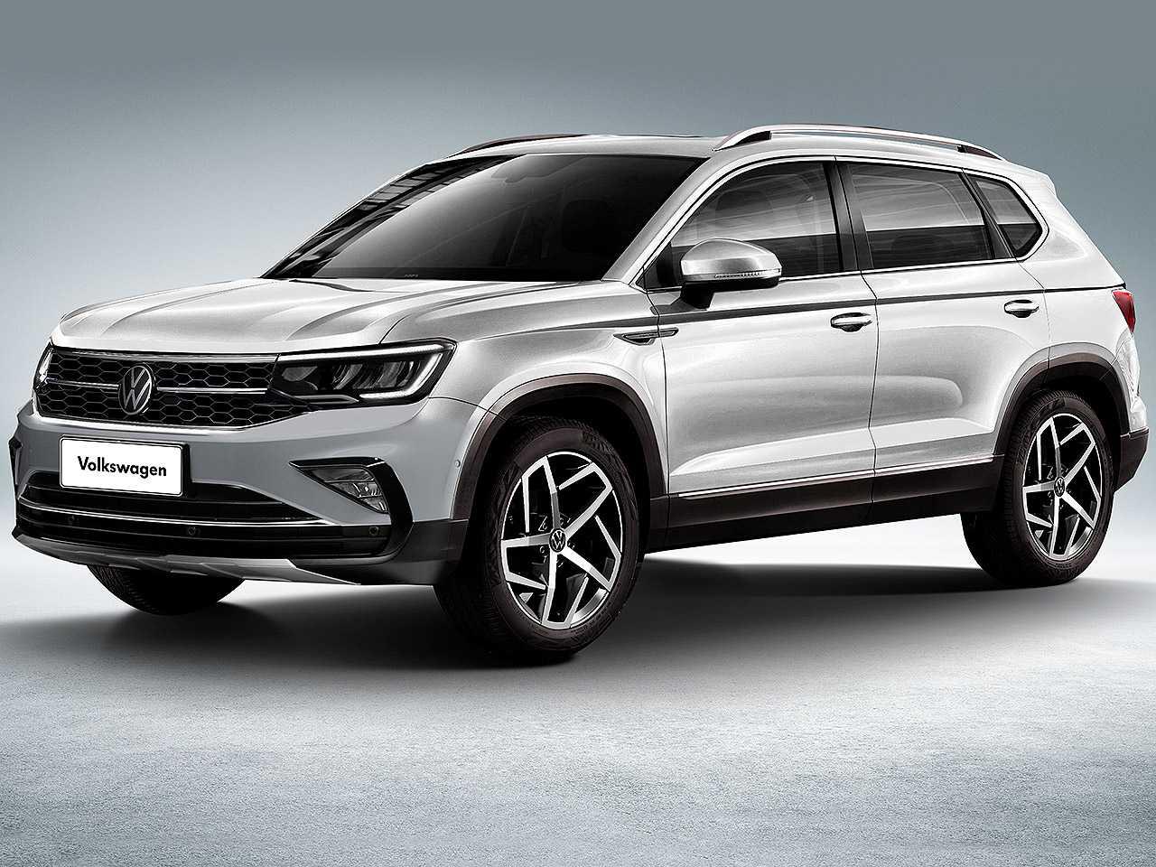 Projeção de Kleber Silva antecipando o futuro SUV médio da VW derivado do projeto Tarek