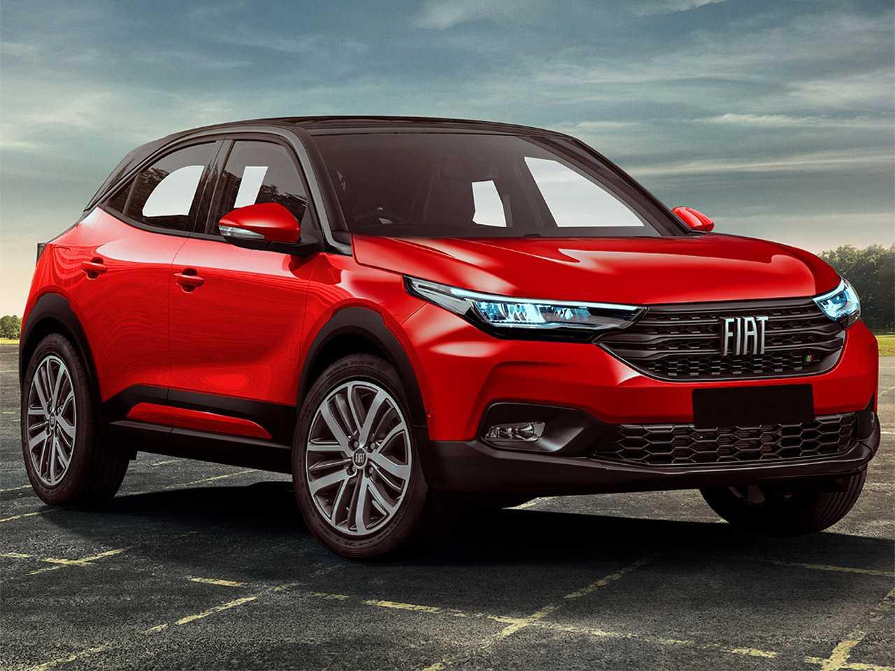 Projeção de Kleber Silva para o futuro SUV compacto da Fiat tomando como base elementos da nova Strada