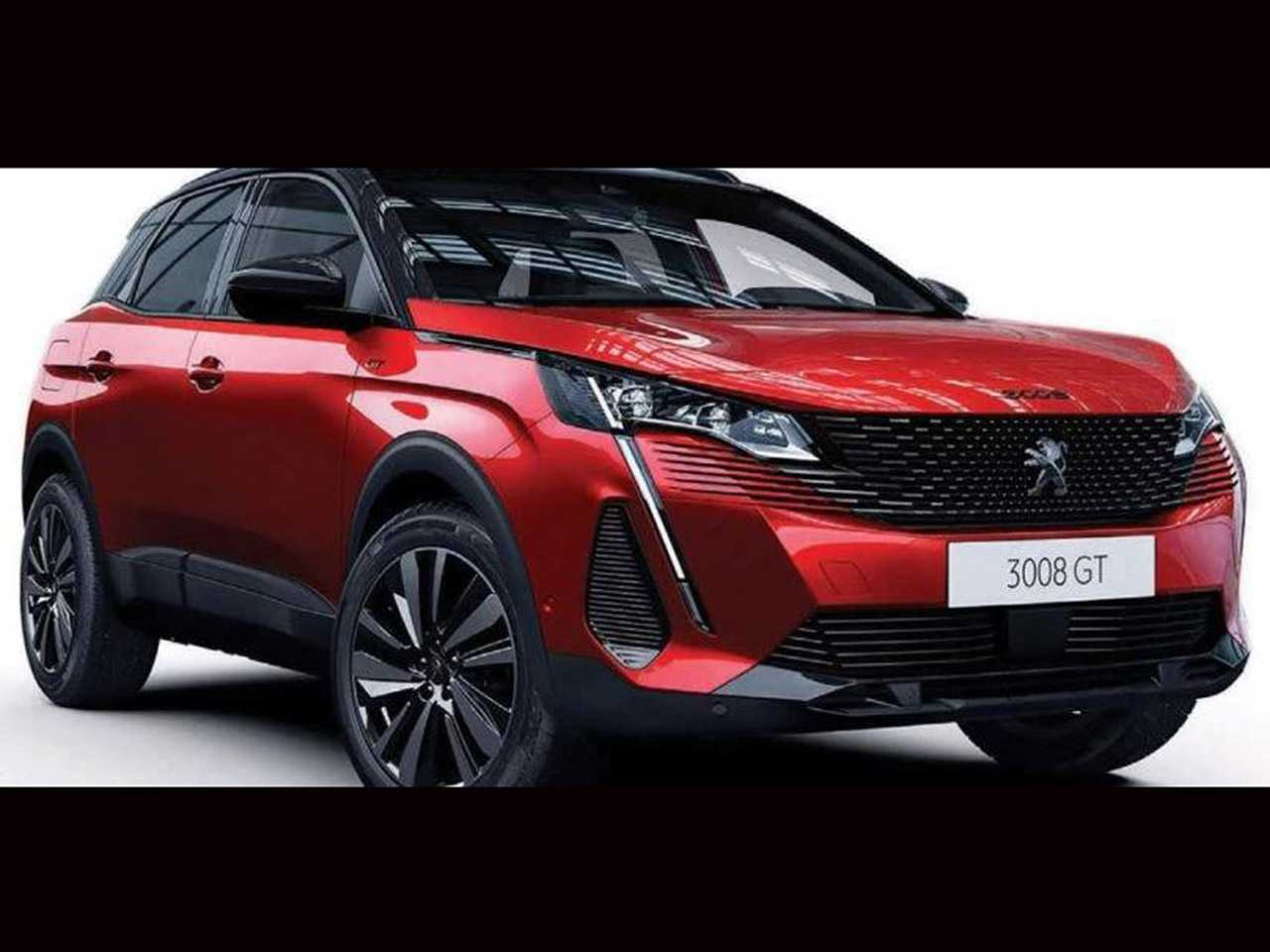 Imagem antecipando de forma definitiva o facelift para o Peugeot 3008
