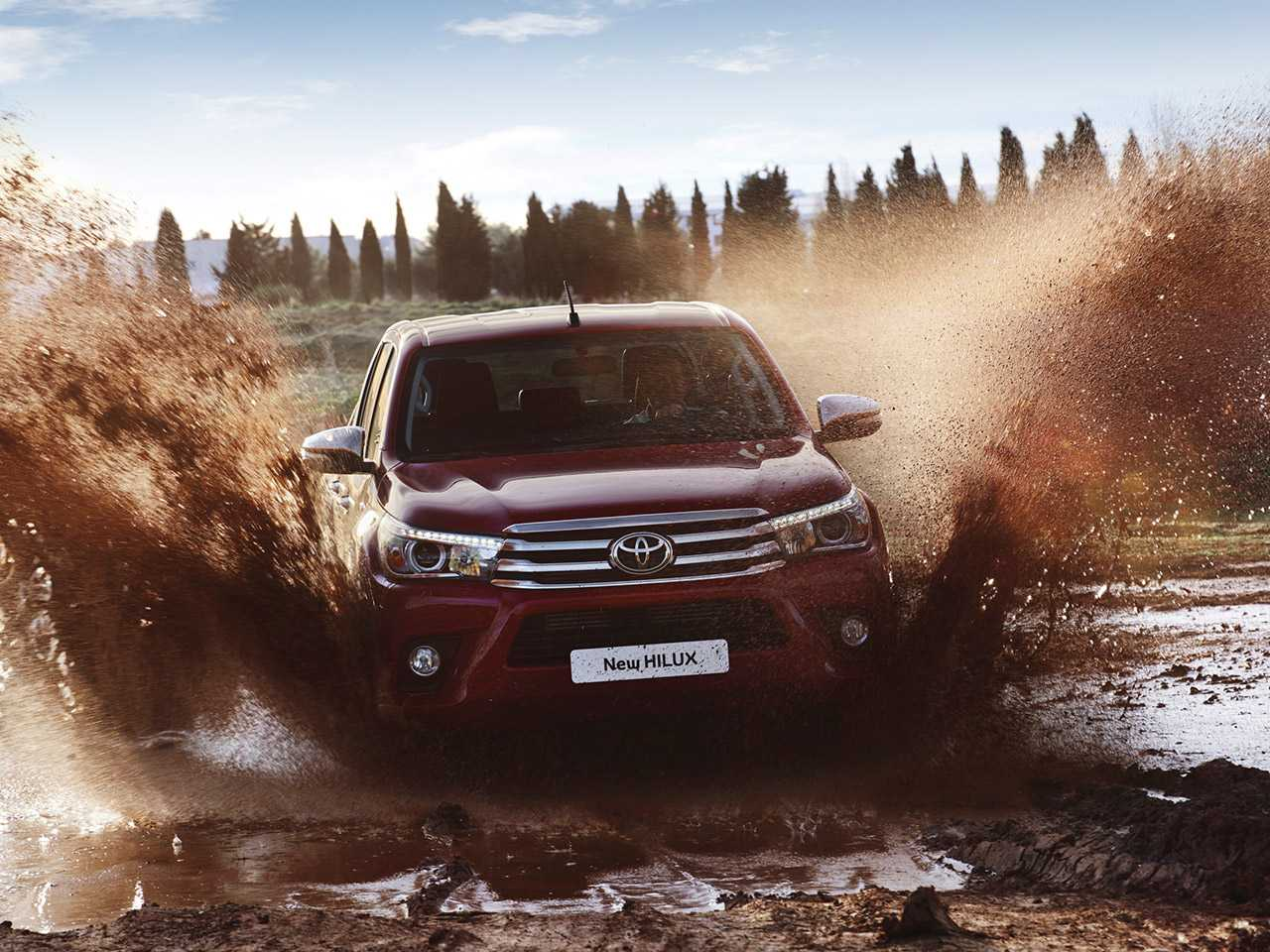 Detalhe da Toyota Hilux vendida na Europa