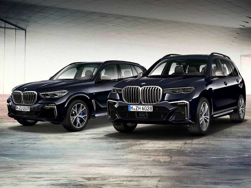 Acima o BMW X5 M50d e o BMW X7 M50d Final Edition