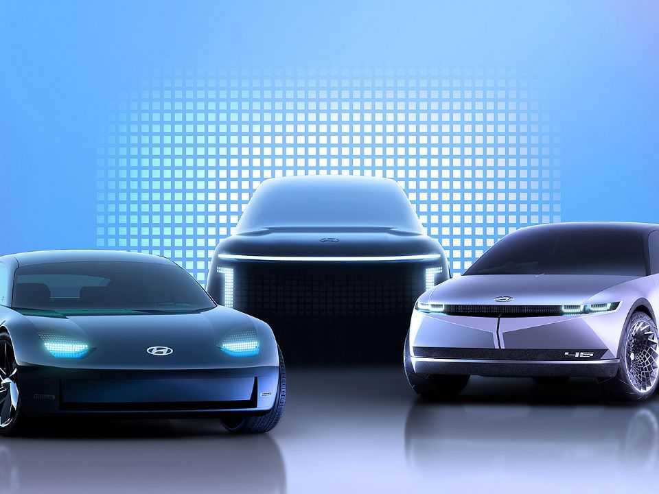 Detalhe da futura gama Ioniq, família de modelos elétricos da Hyundai