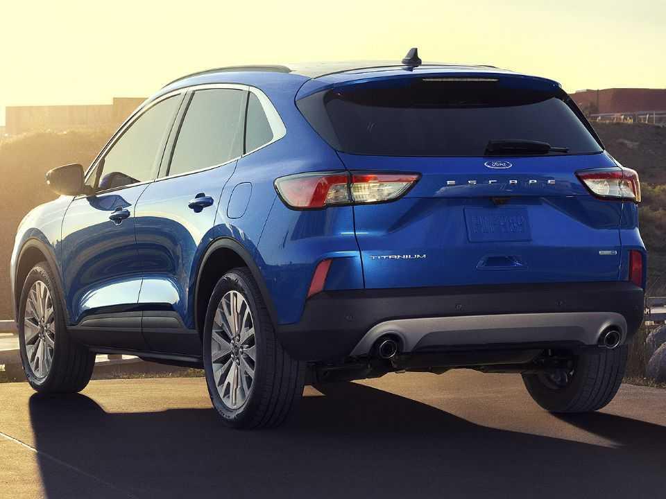 Acima o Ford Escape híbrido vendido nos EUA