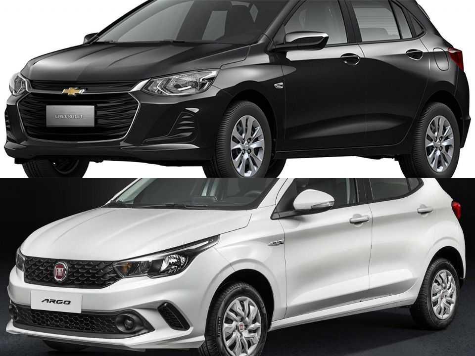 Chevrolet Onix e Fiat Argo