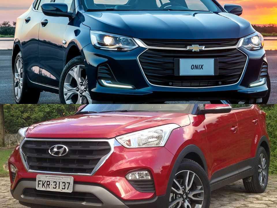 Chevrolet Onix Plus e Hyundai Creta