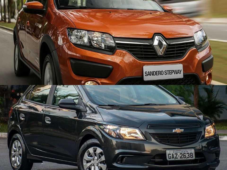 Renault Sandero Stepway e Chevrolet Onix Joy