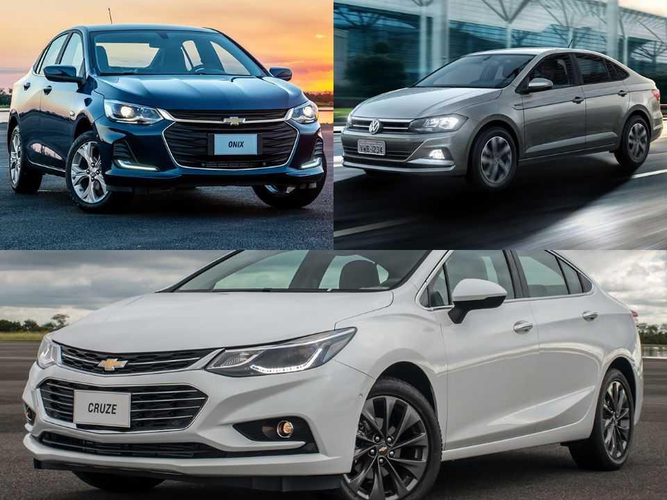 Chevrolet Onix Plus, Volkswagen Virtus e Chevrolet Cruze