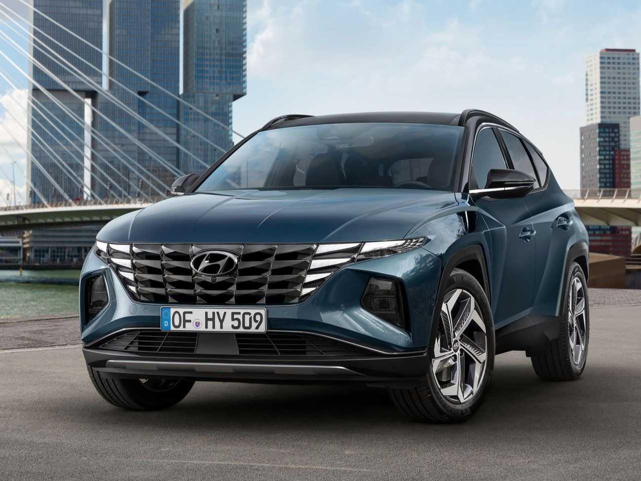 HyundaiTucson 2021 - ângulo frontal