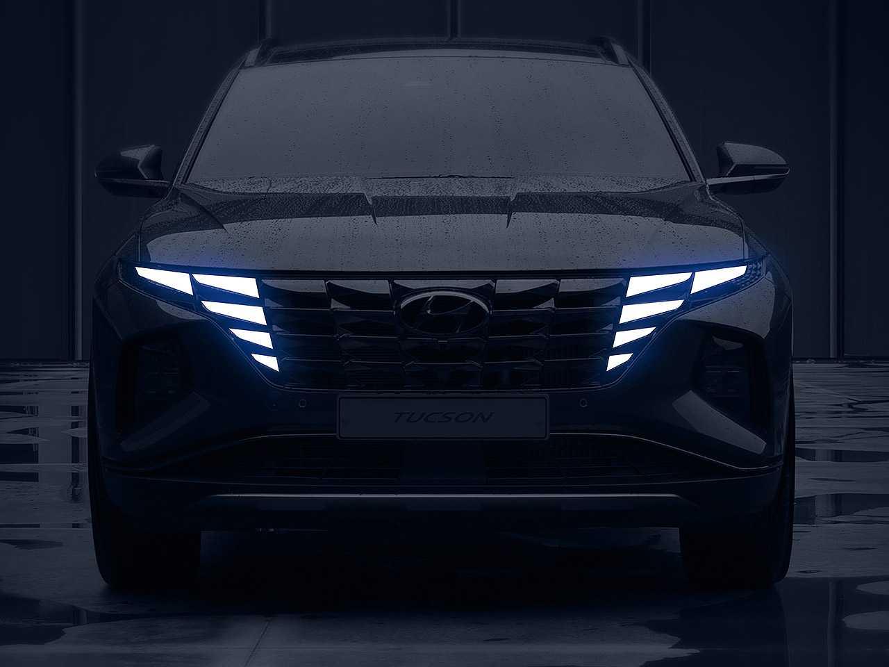 Teaser da quarta geração do Hyundai Tucson