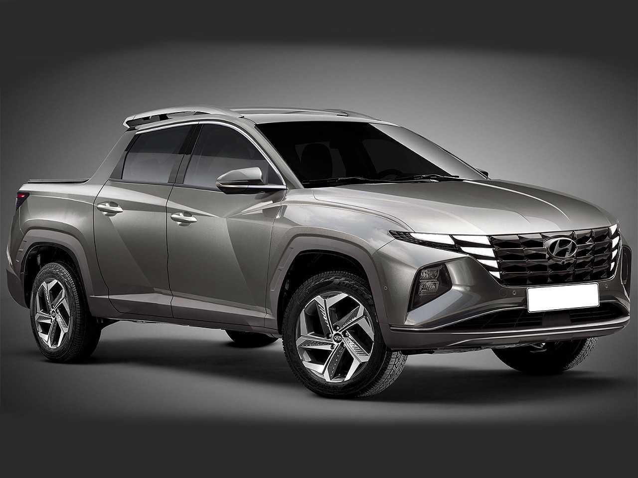 Projeção de Kleber Silva para uma picape inédita derivada do novo Hyundai Tucson