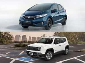 Compra com isenção: Honda Fit Personal ou um Jeep Renegade?