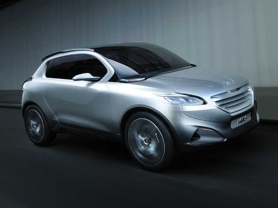 Acima o Peugeot HR1 Concept revelado em 2010: inspiração para o crossover pequeno da marca