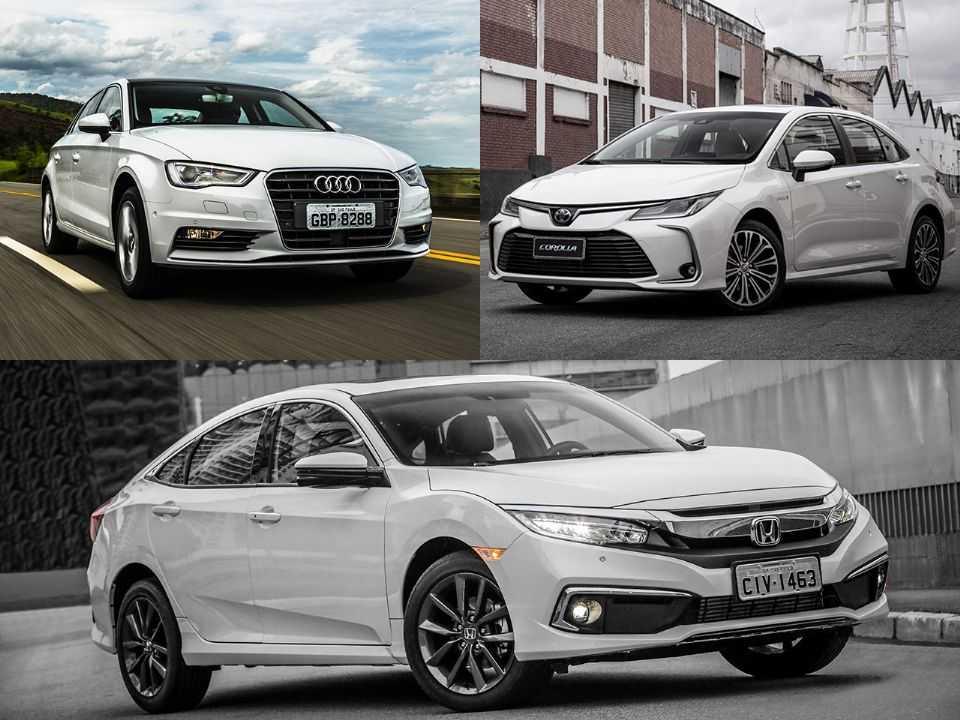 Audi A3 Sedan, Toyota Corolla e Honda Civic