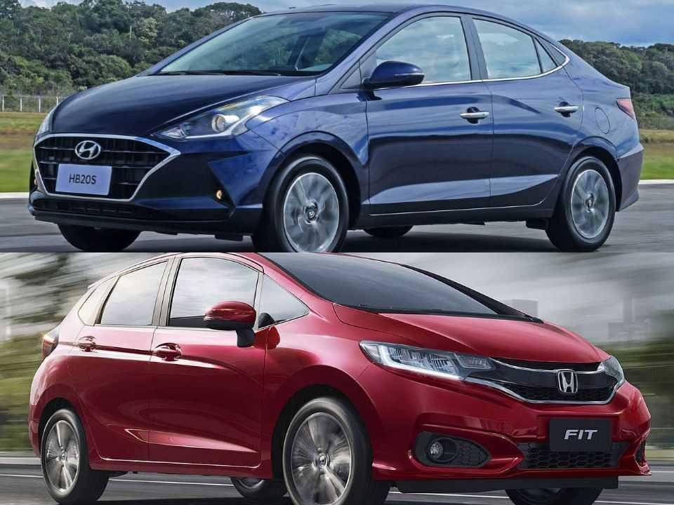 Hyundai HB20S e Honda Fit