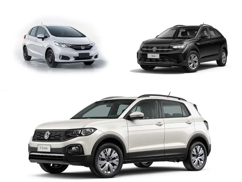 Honda Fit, Volkswagen Nivus e Volkswagen T-Cross