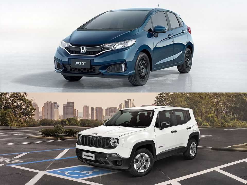 Honda Fit e Jeep Renegade