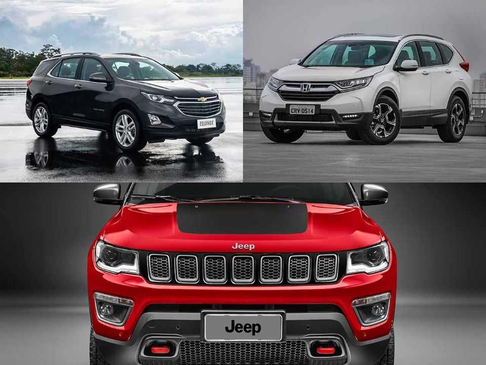Chevrolet Equinox, Honda CR-V e Jeep Compass