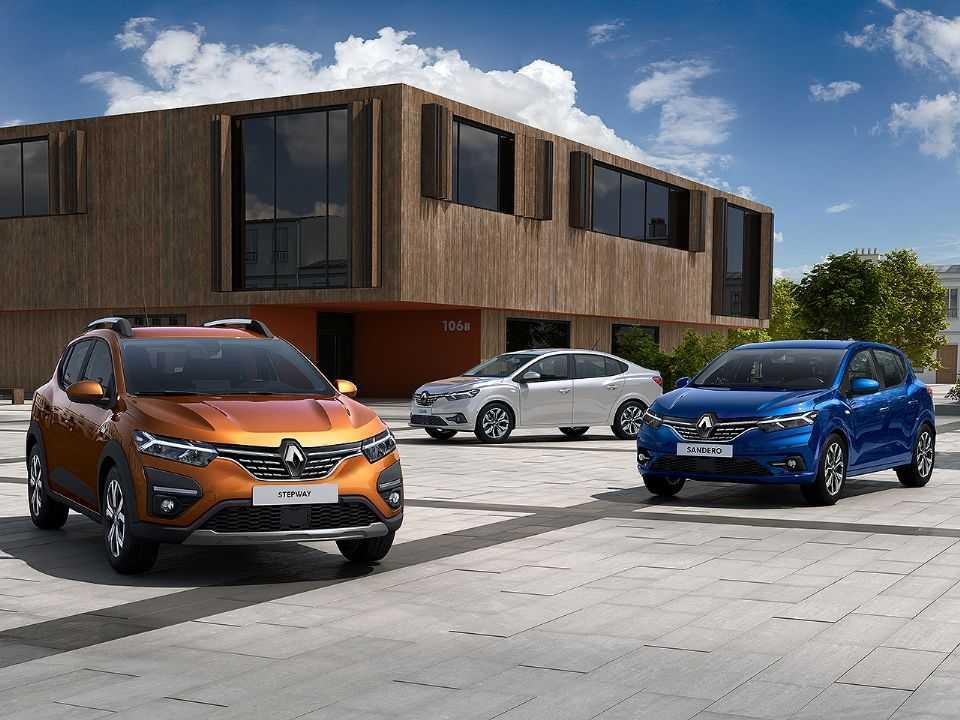 Novas gerações de Sandero, Stepway e Logan com o visual da Renault