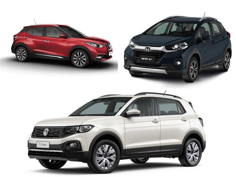 Nissan Kicks, Honda WR-V e Volkswagen T-Cross