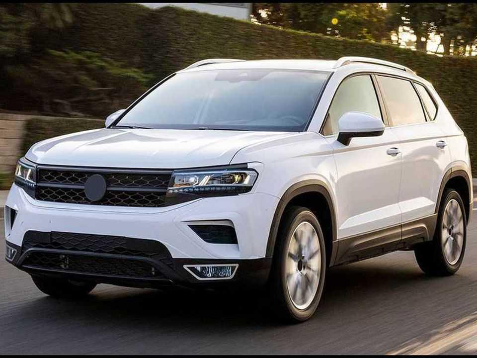 Imagem oficial do VW Taos levemente camuflado que será vendido nos EUA