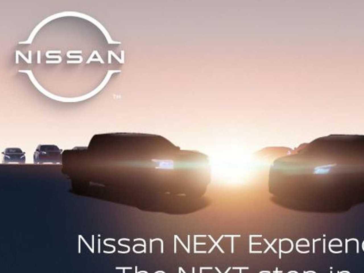 Teaser da Nissan mostra nova Frontier para os EUA (à esq.)