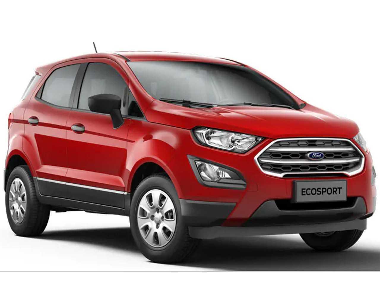 Acima o Ford EcoSport no catálogo SE Direct 1.5 automático que atendia o público PcD