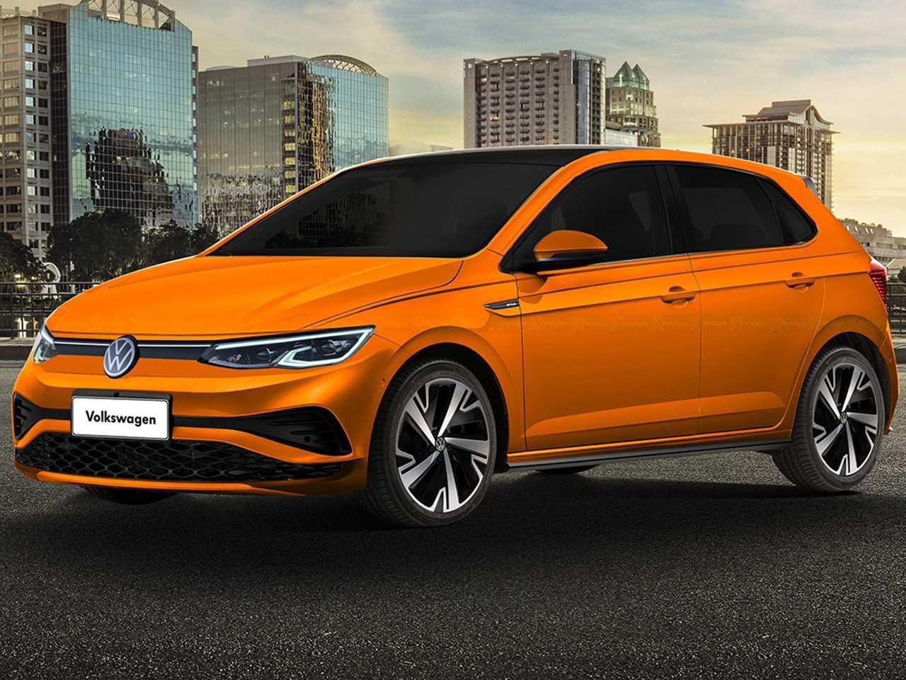 Sugestão de Kleber Silva para o facelift do VW Polo com base em flagras no exterior