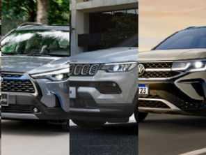Será que o Corolla Cross e o VW Taos poderão abalar o reinado do Jeep Compass?