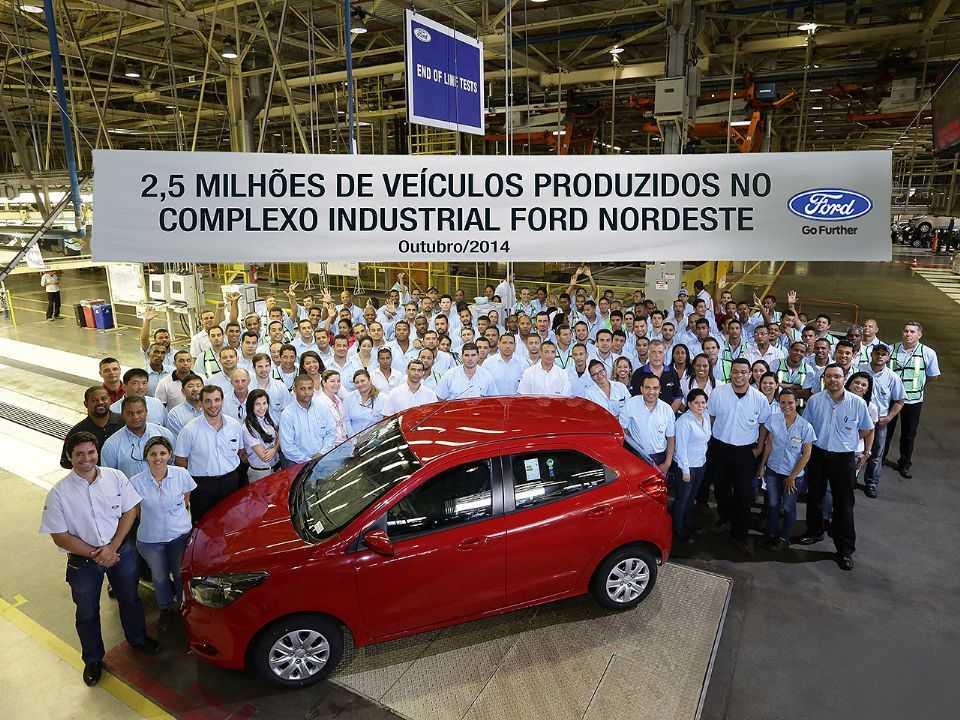Em 2014, marco importante foi alcançado pela Ford em Camaçari