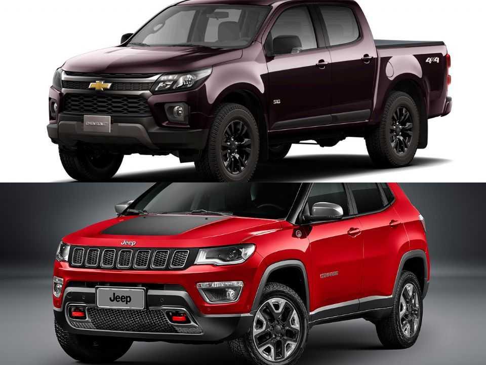 Chevrolet S10 e Jeep Compass