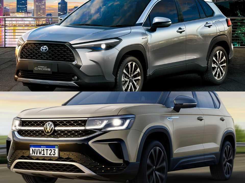 Toyota Corolla Cross e Volkswagen Taos