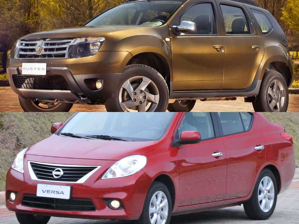 Renault Duster e Nissan Versa