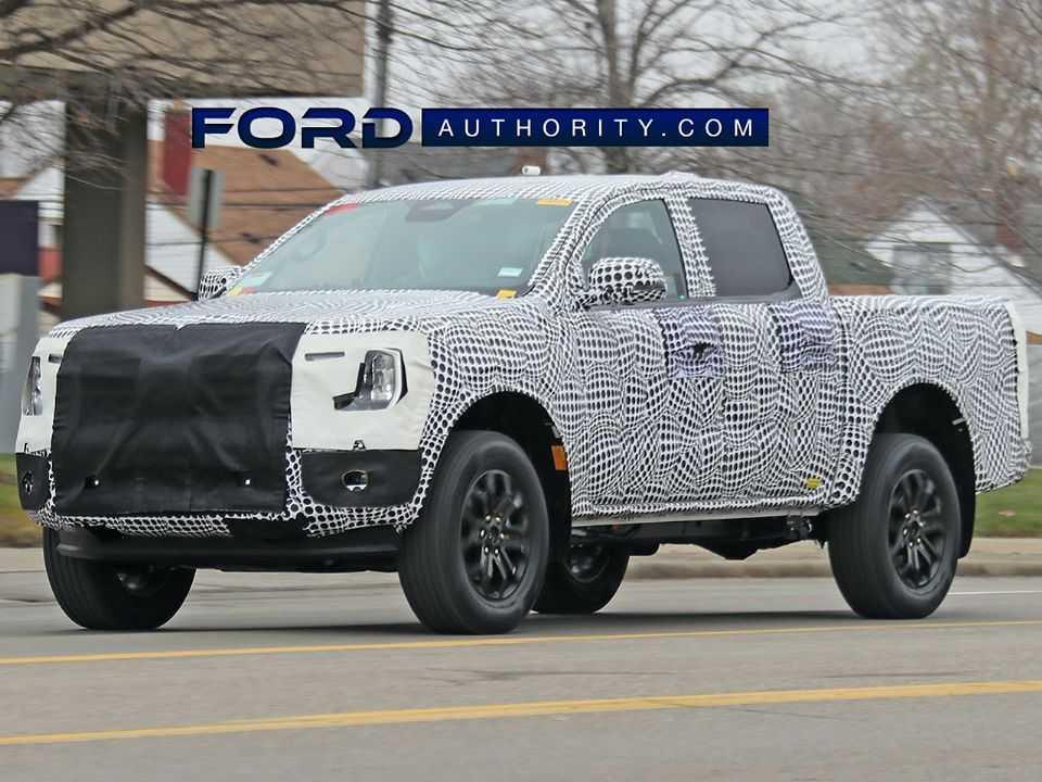 Flagra da nova geração da Ranger obtido pelo Ford Authority